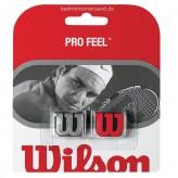 Wilson Pro Feel Dämpfer 2er Pack rot/silber