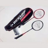 Dunlop 2 Spieler Badminton-Set inkl. Bälle + Schlägerhülle