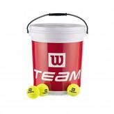 Wilson Trainer-Bälle 72 St. im Eimer gelb